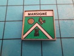 Pin811i Pin's Pins / Beau Et Rare : VILLE /  BLASON ECUSSON ARMOIRIES MANSIGNE - Städte