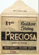 Pochette De Corde De Guitare - Enveloppe For Guitar String - PRECIOSA - Czechoslovqkia - Accessoires, Pochettes & Cartons