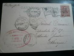 Genova Rara Destinazione Merida Yucatan Messico Via N.Y/ Laredo-Tampico 1904 - 1900-44 Vittorio Emanuele III