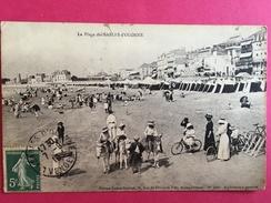 85 VENDEE, La Plage Des SABLES D'OLONNE, 1910, Animée, ânes,  (L. Amiaud) - Sables D'Olonne