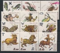 Russia 2004 Horoscope 12 Star Signs Zodiac Leo Cancer Libra Scorpio Pisces Astrology Stamps MNH Mi 1155-66 SC 6829-32 - Astrology