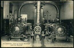 Cpa  Hallencourt  Machines De L'usine De Tissage,   Beau Plan - Frankreich