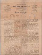 India 1934  Cotton Rates Circular In Gujrati Language Foreign Dept.  #  00940  FL Inde Indien India Fiscaux Revenue - Old Paper