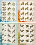 Russia 2004 Sheet Horoscope 12 Star Signs Zodiac Leo Cancer Libra Scorpio Astrology Art Stamps MNH Mi 1155-66 SC 6829-32 - Astrology