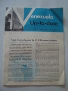 VENEZUELA UP-TO-DATE - EMBASSY OF VENEZUELA, APRIL 1950. 24 PAGES. B/W PHOTOS. - Documents Historiques