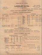 India 1934  Langley & Co. Bombay Daily Cotton Market Report  #  00952  FL Inde Indien India Fiscaux Revenue - Old Paper