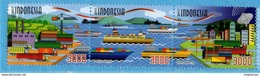 INDONESIA 2017-11 PATH TO NATION'S GOLDEN AGE SHIP HARBOUR SET STAMPS MNH - Indonésie