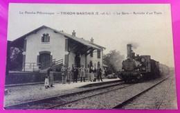 Cpa Thiron Gardais Gare Train Carte Postale 28 Eure Et Loir Proche Combres Nogent Le Rotrou Chassant Coudreceau Gaudaine - Non Classés