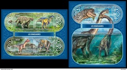 TOGO 2017 - Dinosaurs, M/S + S/S. Official Issue. - Préhistoriques
