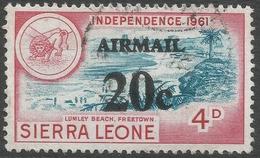 Sierra Leone. 1964-66 Decimal Currency Surcharges. 20c On 4d Air Used. SG 323 - Sierra Leone (1961-...)