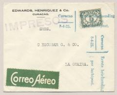 Curacao - 1925 - Eerste Briefzending Per Luchtpost -  SCADTA Cover Van Curacao Naar La Guaira - Curacao, Netherlands Antilles, Aruba