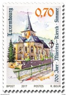 Luxembourg - 2017 - 700 Years Of Church Of Simmer - Mint Stamp - Unused Stamps