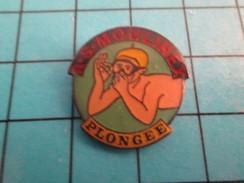 Pin811J Pin's Pins / Beau Et Rare : SPORTS / CLUB PLONGEE SOUS-MARINE MOULINEX APNEE - Plongée