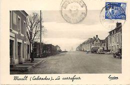 - Calvados -ref-F602- Moult - Le Carrefour - Garage - Voitures - Au Relais Routiers -  Restaurant - Pompe A Essence - - Autres Communes
