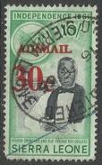 Sierra Leone. 1964-66 Decimal Currency Surcharges. 30c On 10/- Air Used. SG 324 - Sierra Leone (1961-...)