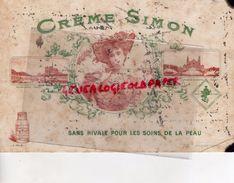 69- LYON -BUVARD CREME SIMON- SAVON SOINS DE LA PEAU  - SAVONNERIE FEMME FLEUR-PALAIS TROCADERO-NOTRE DAME PARIS - Buvards, Protège-cahiers Illustrés