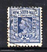 XP3427 - NEW SOUTH WALES , 2 Pence Usato . Annullo. Filigrana Capovolta : Crown On NSW  Inverted CAPOVOLTA - Oblitérés