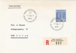 EUROPA 1966 - 50 C Auf RECO-Brief Gel.v.Lausanne N.Olten - Autres - Europe