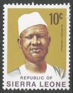 Sierra Leone. 1972 President Siaka Stevens. 10c MH. SG 581 - Sierra Leone (1961-...)
