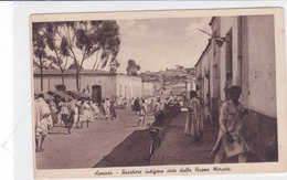 CARD ERITREA -ASMARA QUARTIERE INDIGENO MOLTO ANIMATO  COME DA SCANNER  -FP-N-2-0882-27695 - Eritrea