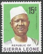 Sierra Leone. 1972 President Siaka Stevens. 15c MH. SG 582 - Sierra Leone (1961-...)