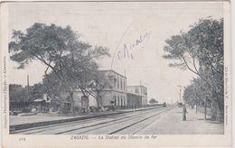 Egypte  Zagazig La Station Du Chemin De Fer - Zagazig