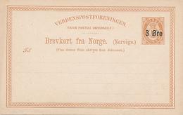 NORGE - 1888 , Post Card - Ganzsachen