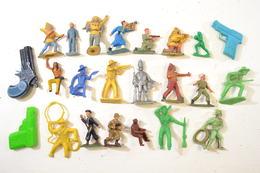 Lot De Figurines / Jouets Années 1960 - 1970, Soldats, Cowboys, Starlux, Jim... - Starlux