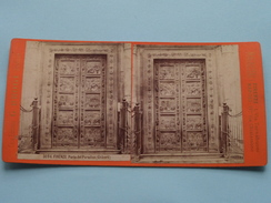 FIRENZE Porta Del PARADISO ( Ghiberti) - (3094) Stereo Photo G. BROGI Firenze Napoli ( Voir Photo Pour Detail ) ! - Photos Stéréoscopiques