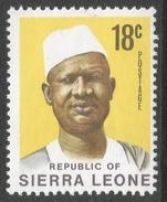 Sierra Leone. 1972 President Siaka Stevens. 18c MH. SG 583 - Sierra Leone (1961-...)