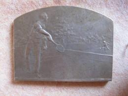 Médaille TOURNOIS DE TENNIS 1923 Offert Par L'ECHO DE PARIS, Par M. LORDONNAIS - Ohne Zuordnung