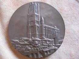Médaille De 1987.La Ville D'ALBI, La Cité épiscopale, Par Emile ROUSSEAU - France