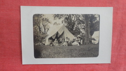 RPPC-- Family Camping Scene With Tent   Ref 2707 - Postcards