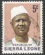 Sierra Leone. 1972 President Siaka Stevens. 5c Used SG 579 - Sierra Leone (1961-...)