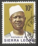 Sierra Leone. 1972 President Siaka Stevens. 10c Used SG 581 - Sierra Leone (1961-...)