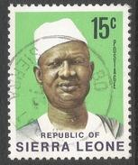 Sierra Leone. 1972 President Siaka Stevens. 15c Used SG 582 - Sierra Leone (1961-...)