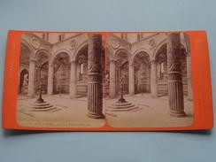 FIRENZE Cortile Di Palazzo Vecchio (3036) Stereo Photo G. BROGI Firenze Napoli ( Voir Photo Pour Detail ) ! - Photos Stéréoscopiques