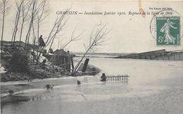 CHAUSSIN - Inondations Janvier 1910 - Rupture De La Ligne De Dôle - Francia