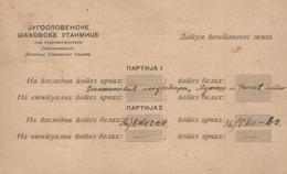 CHESS-PS KINGDOM PERIOD OF YUGOSLAVIA 1939 - Echecs