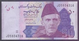 PAKISTAN BANKNOTE - 50 Rupees New Note Of 2017, Ashraf Vathra, Prefix JD 5934316 UNC - Pakistan