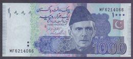 PAKISTAN BANKNOTE - 1000 Rupees New Note Of 2017, Ashraf Vathra, Prefix MF 6214066 UNC - Pakistan