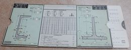 Règle à Calcul  De 1935  - OMARO -  Poutrelles Ipn - Poutrelles H - Fres Profilés En U - Fers Profilés En T - Technical