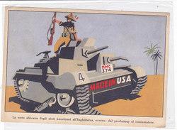 CARD FRANCHIGIA MILITARE UMORISMO LA SORTE AFRICANA DEGLI AIUTI AMERICANI ALL'INGHILTERRA CARRO ARMATO-FG-N-2-0882-27697 - Guerre 1939-45