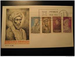 1967 Edifil 1791/4 Ibn Rusd Averroes Jose De Acosta Maimonides Andres Laguna SPD FDC Spain - FDC