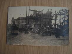 PHOTO DE LA GUERRE 14/18 DESTRUCTION , TRAM - Guerre, Militaire