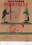 79 - NIORT - RARE PROTEGE CAHIER CHARON FRERES- MOUTARDE NIORTAISE- JEAN MICHEL PIERRE 1952-1953-MARAIS POITEVIN-DONJON - Protège-cahiers