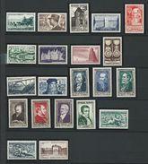 FRANCE - ANNEE COMPLETE 1952 - 28 Timbres Neufs Luxe** Du N° 919 Au N° 939. Voir Descriptif. - 1950-1959
