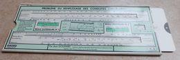 Règle à Calcul De 1949  - OMARO -  Problème Du Remplissage Des Conduites Circulaires - Autres