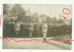 """TRICOT Carte Photo N°17 Inauguration Du Monument Aux Morts Arc De Triomphe """"honneur Aux Anciens Combattants"""" - France"""