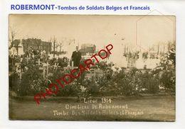 ROBERMONT-Cimetiere-Tombes-Soldats Belges Et Francais-CARTE PHOTO Allemande-Guerre 14-18-1 WK-BELGIEN- - Liege